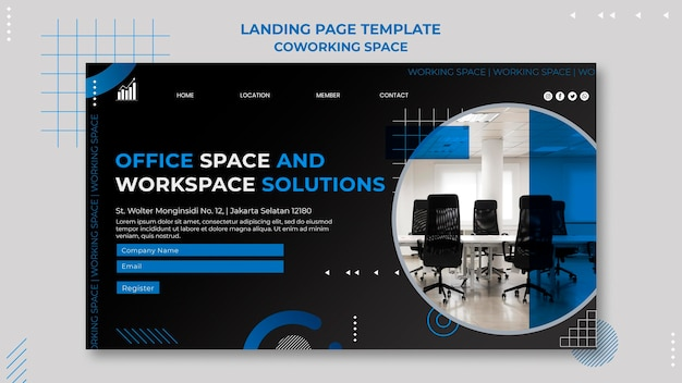 Coworking space landing page