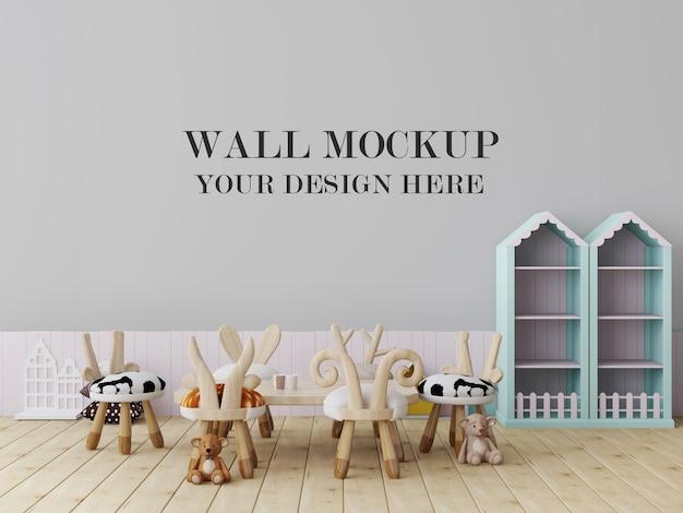 Уютный макет пустой стены детского сада