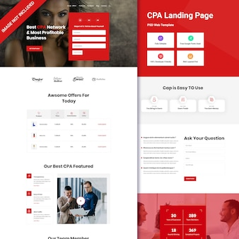 Пользовательский интерфейс целевой страницы cpa