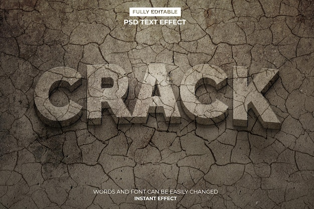 Crack text effect