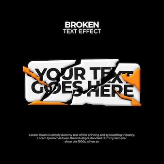 Cracked 3d editable text effect