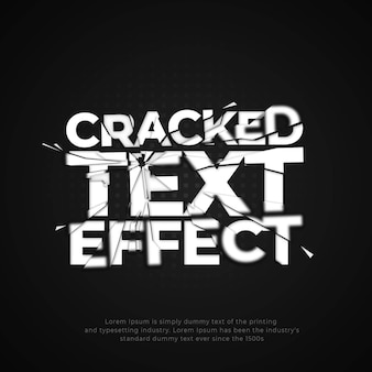 Cracked glass text effect