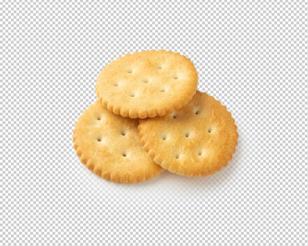 Cracker cookies isolated