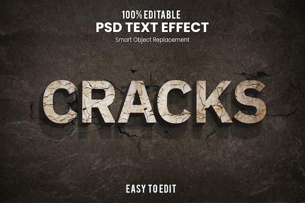 Crackstext эффект