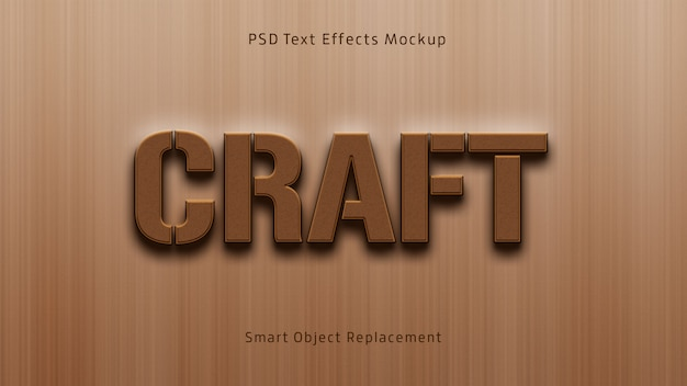 Craft 3d text effectsモックアップ