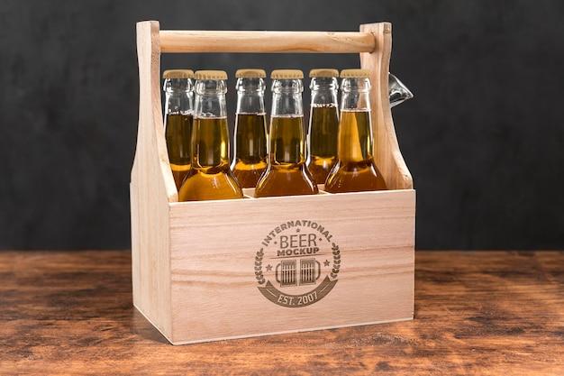 クラフトビールアレンジメントコンセプトモックアップ