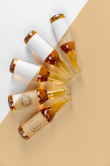 Mock-up di concetto di disposizione di birra artigianale