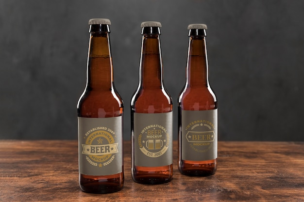 Craft beer  arrangement concept mock-up