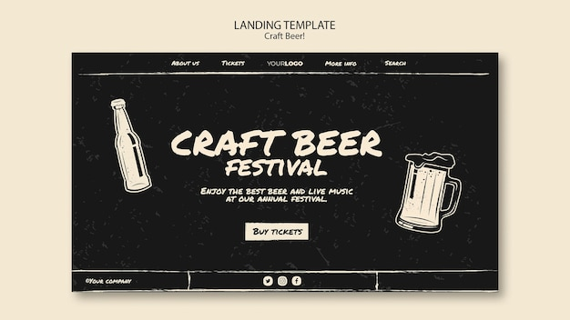 Шаблон целевой страницы пива craft