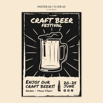Craft beer poster template