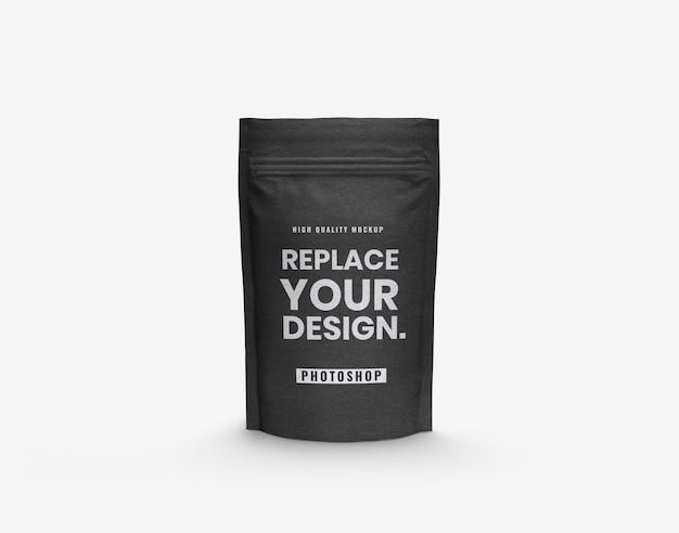 Craft black pouch mockup