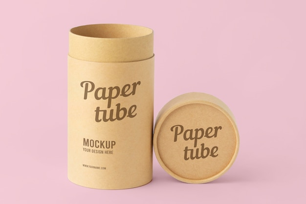 Craft cylinder realistic design mockup