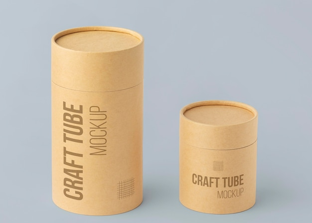 Mockup di design realistico del cilindro artigianale