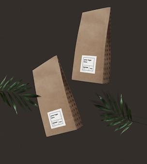 Craft paper bag mockup