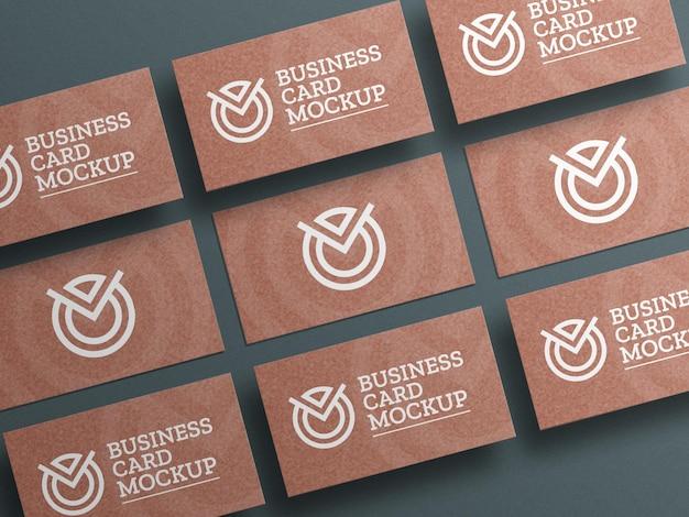 Макет визитки из бумаги