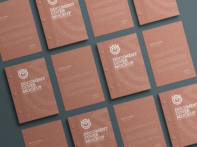 Макет канцелярских бланков из крафт-бумаги
