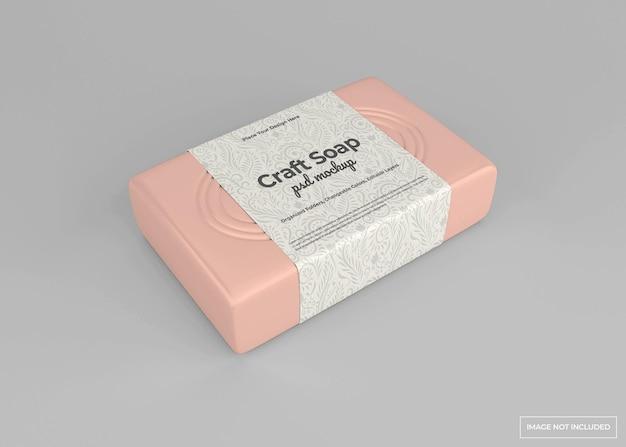 Ремесленный макет мыла в концепции красоты