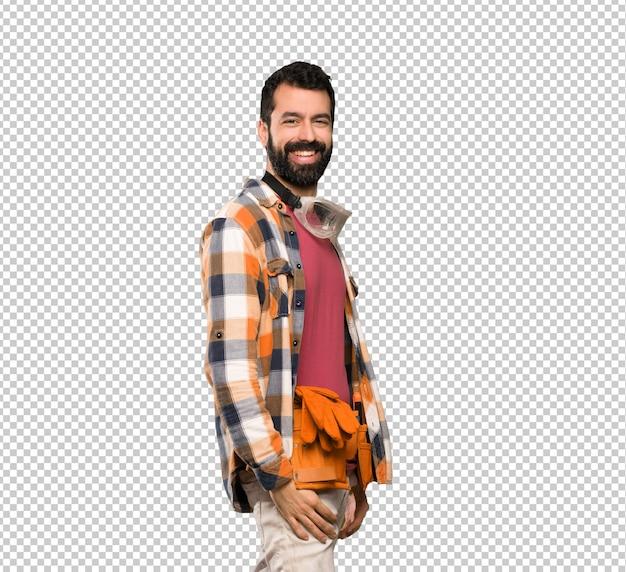 Craftsman man smiling