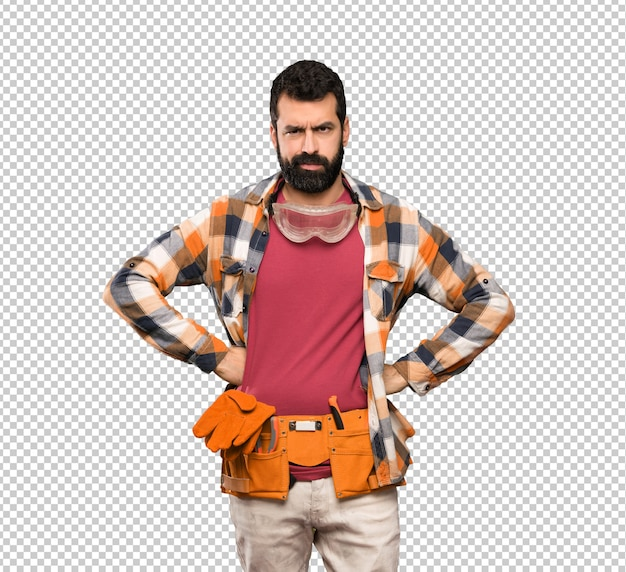 Craftsmen man angry