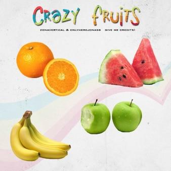 Crazy fruits vector