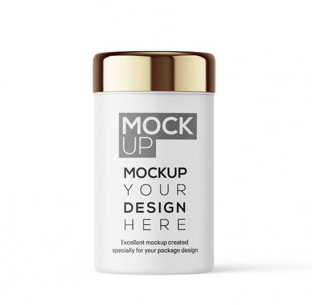 Cream bottle mockup for your design