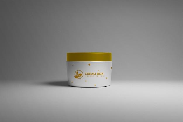 Cream box packaging mockup