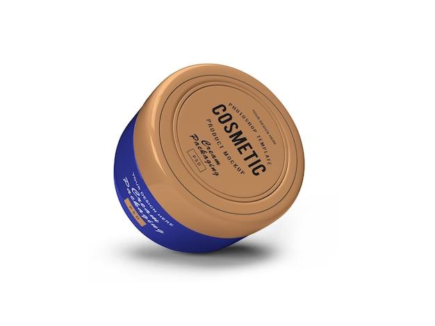 Cream cosmetic jar 3d mockup design in 3d rendering