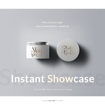 Cream packaging mock up
