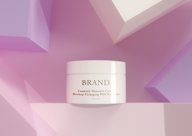 Cream skin care product in elegant packaging.