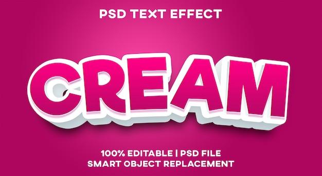 Кремовый текстовый эффект