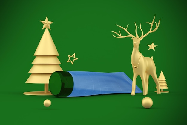 Cream tube christmas