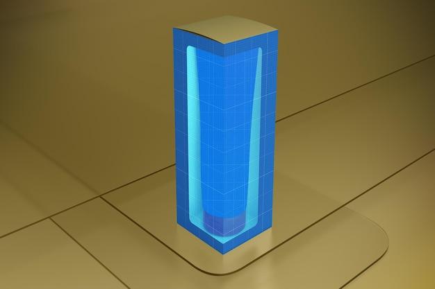 Cream tube on glass