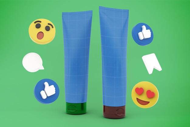 Cream tube social media