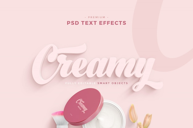 Creamy text effect mockup