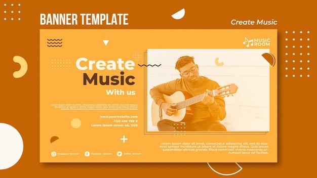 Create music banner template