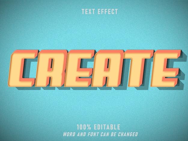 Create text effect retro style editable  style vintage