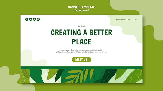 Creating a better place banner template