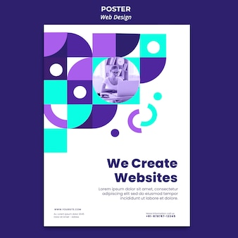 Creating websites poster template