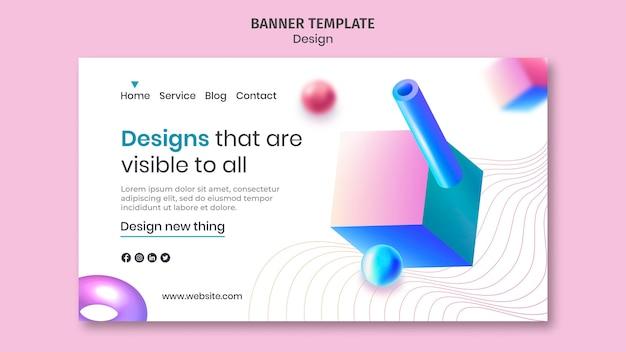 창의적인 3d 디자인 방문 페이지