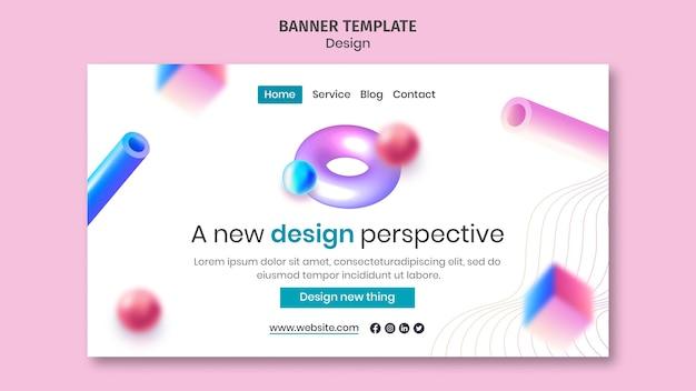 クリエイティブな3dデザインのランディングページ