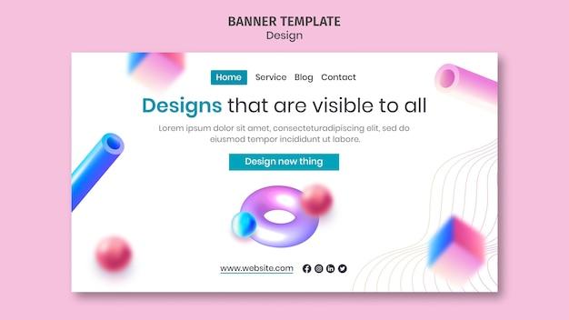 Целевая страница креативного 3d-дизайна