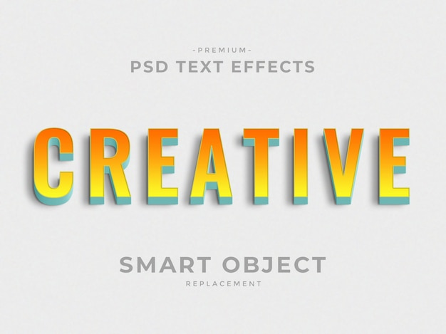 Creative 3d photoshop layer style text effects