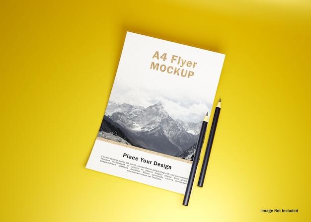 Креативный макет флаера формата а4