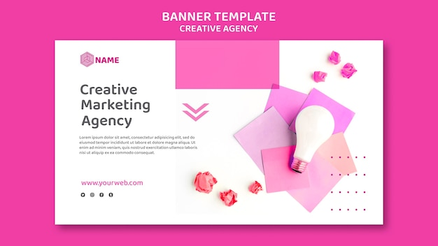 Creative agency banner template