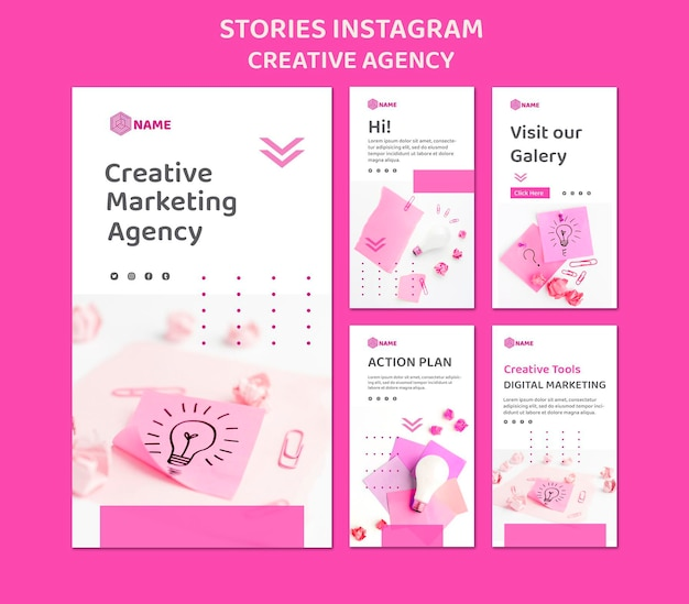 Creative agency instagram stories template
