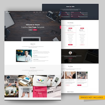 Creative agency landing page premium psd template