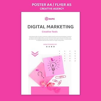 Шаблон плаката креативного агентства