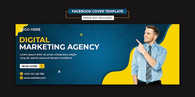 Creative agency social media and facebook cover template