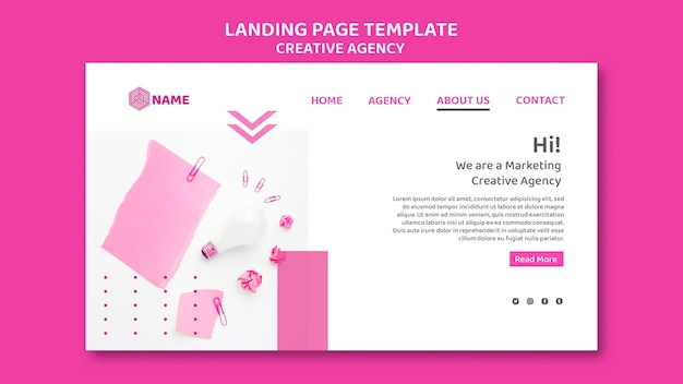 Целевая страница шаблона креативного агентства