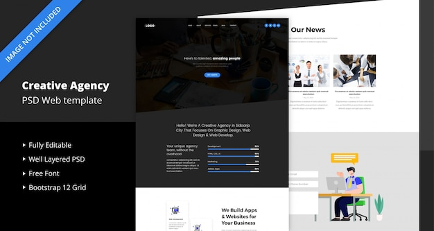 Creative agency web website template